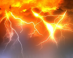 落雷のイメージ