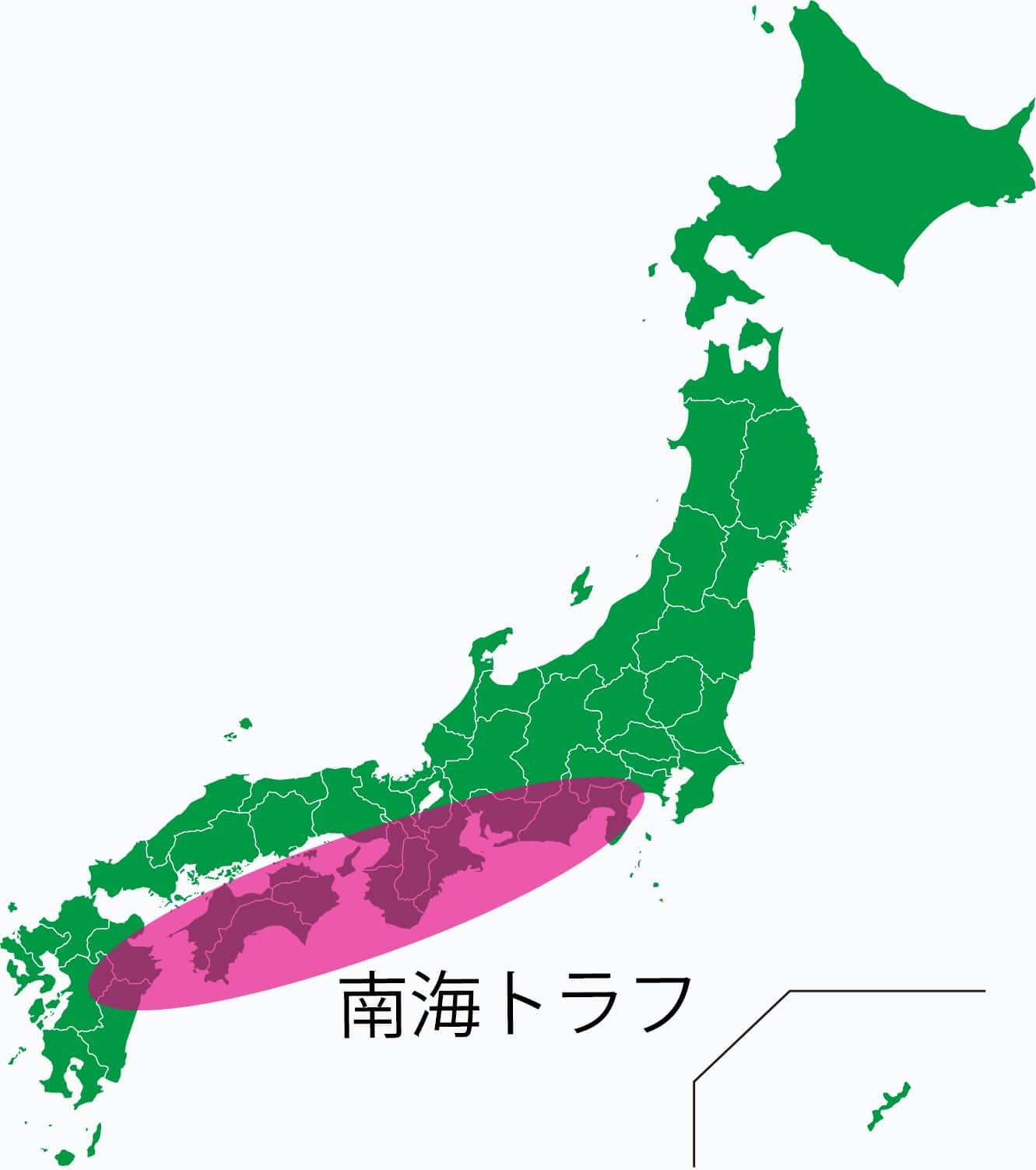 地震は日本のどこでも起こりうる