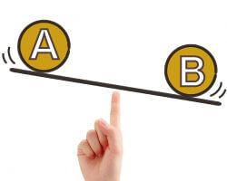 AとBを比較してみる