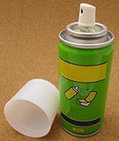 爆発する恐れのあるスプレー缶